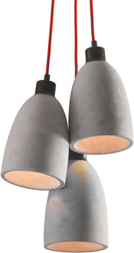 zuo fancy ceiling lamp concrete gray