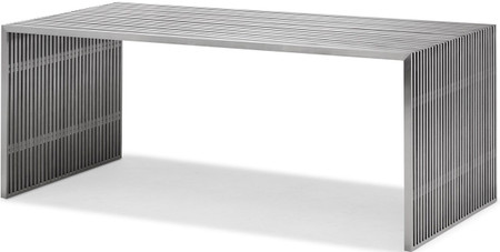 zuo novel dining table brushed stainless steel