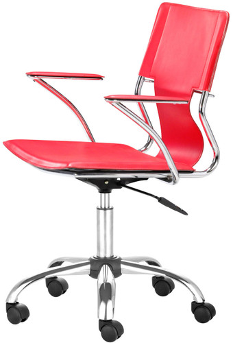 Zuo Modern Trafico Office Chair Red
