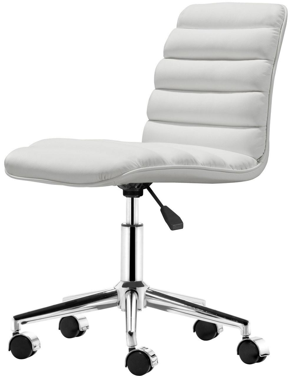 zuo modern admire office chair white zuo modern 205711. Black Bedroom Furniture Sets. Home Design Ideas