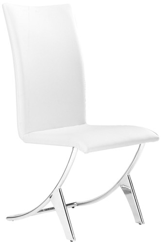 Zuo Modern Delfin Dining Chair White