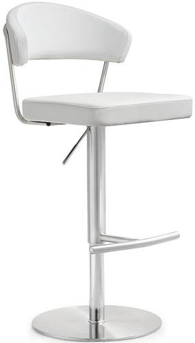 Maddox White Stainless Steel Barstool