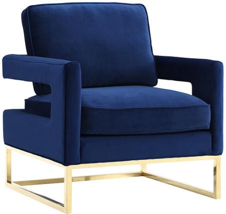 Mariano Navy Velvet Chair