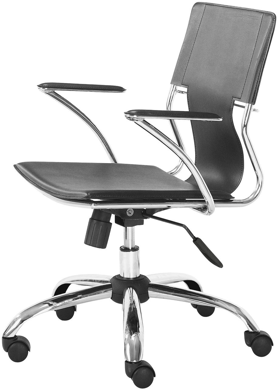 zuo trafico office chair black white or red retro style