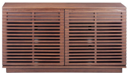 Zuo Modern Linea Credenza In Walnut Finish Made With MDF And Solid Fir Wood