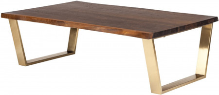 Nuevo Living Versailles Coffee Table In Seared Oak With A Brushed Gold Finish