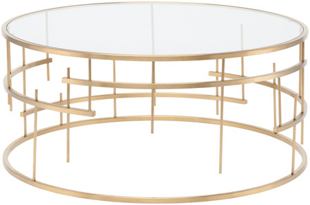Nuevo Living Tiffany Coffee Table In Stainless Steel And Finished In Gold