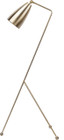 Nuevo Living Lucille Floor Lamp In A Antique Brass Finish And Made With Solid Steel
