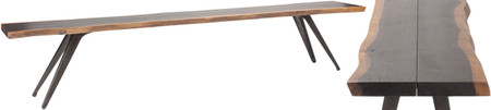 Vega Dining Bench Seared Oak