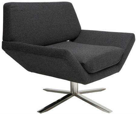 Sly Lounge Chair Dark Grey Wool