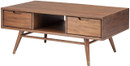 Jake Coffee Table In Walnut Stain