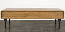 Distrikt Coffee Table In Fumed Oak With Cast Iron Feet