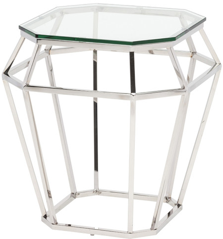 Diamond Side Table Chrome