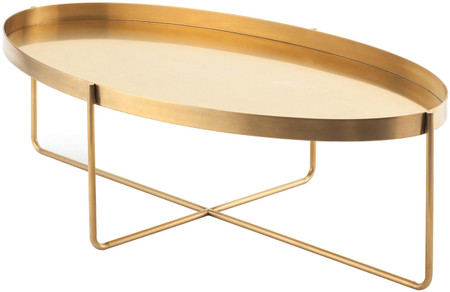 Gaultier Coffee Table Gold Brushed Stainless Steel
