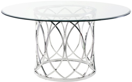 Juliette Dining Table High Polished Stainless Steel