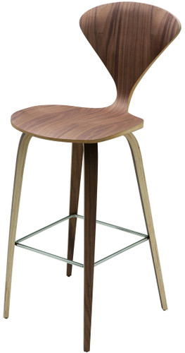 Satine Bar Stool American Walnut
