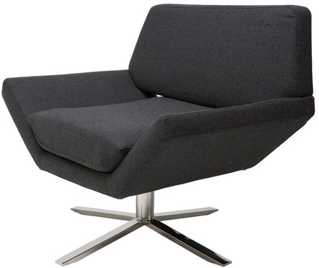 Nuevo Sly Lounge Chair Dark Grey