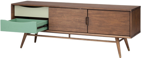 Maarten Media Unit Stained In Walnut Brown