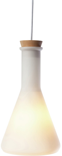 Rhea Pendant Frosted White Glass