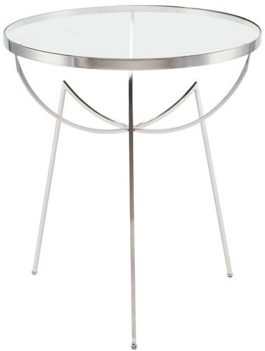 Areille Side Table Stainless Steel