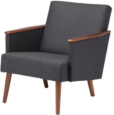 Jasper Lounge Chair Grey Wool