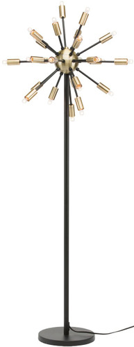 Sputnik Floor Lamp Matte Black And Antique Brass