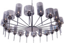 Alexandria Pendant Grey Glass / Black Chrome
