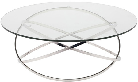 Corel Coffee Table Polished Stainless Steel