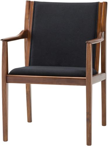 Alto Occasional Chair Black Fabric Walnut