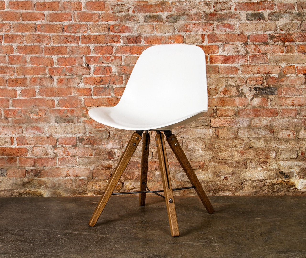 Theo Shell Chair White Corion Molded Contoured Shell Chair