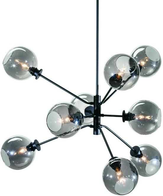 nuevo atom pendant lamp 9 glass globe shades