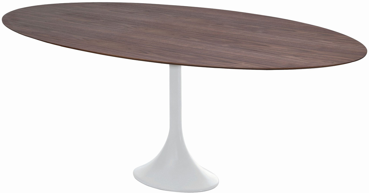 Nuevo Echo Dining Table Mid Century Style Oval Dining Table
