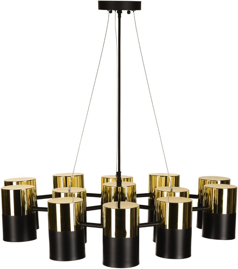Taylin Pendant Lamp Matte Black And Polished Gold
