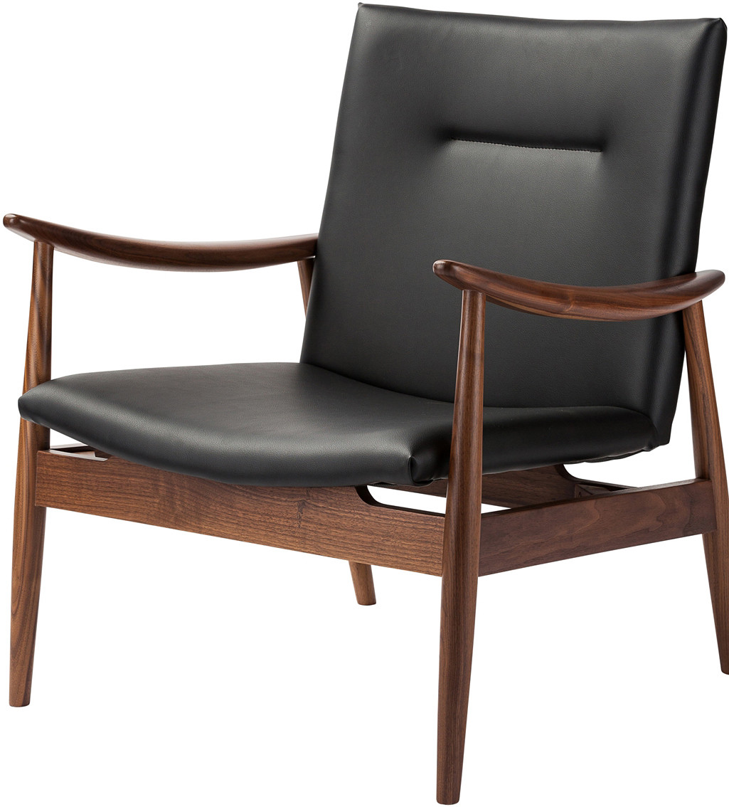 Bartholomew Lounge Chair Made Of Solid Walnut