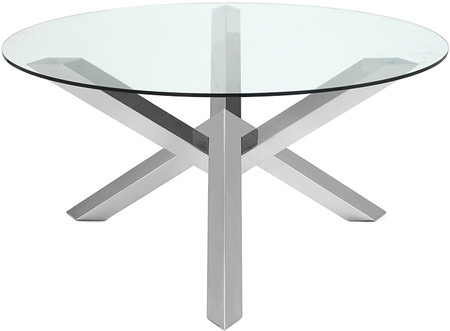 Nuevo Living Costa Dining Table Stainless Steel