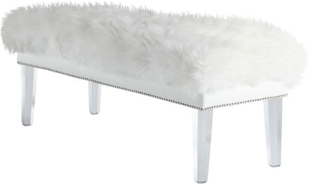 Helena Sheepskin Bench White