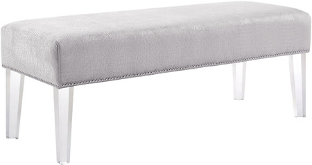Mirage Crocodile Bench Silver
