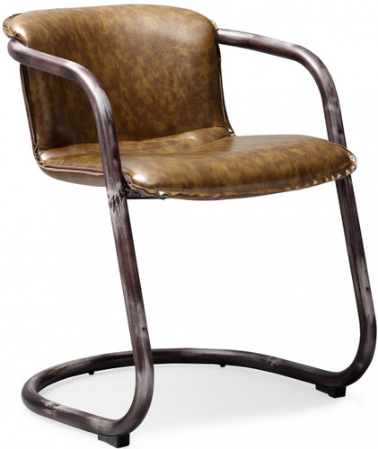 Gear Dining Chair Vintage Cognac
