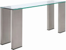 Parker Console Brushed Stainless Steel