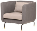 Gabriel Single Seater Pewter Grey With Charcoal Grey