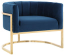 Chandler Navy Chair With Gold Base