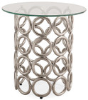 Circulaire Silver End Table