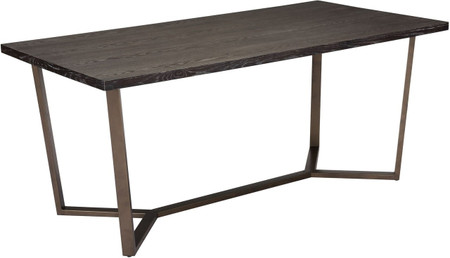 Brooklyn Dining Table Gray Oak & A.Brass