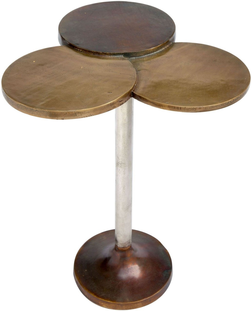 Dundee Accent Table Antique Brass