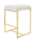 Palmer Counter Stool Gold Frame