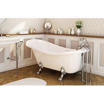 MAAX Moment 6631 White Acrylic Clawfoot Tub Chrome Feet