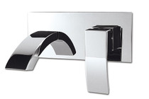 Rubi Wall mounted basin faucet with elongated Spout Chrome