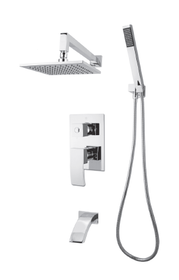 Rubi Fall shower kit pressure balanced with3 ways diverter