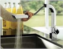 Moen 90 Degree Single-Handle Pull-Out Sprayer Kitchen Faucet
