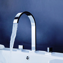 Marila Chrome Widespread Bathroom Faucet